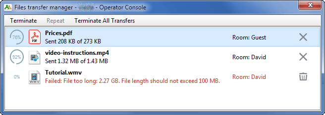 New file transfer manager